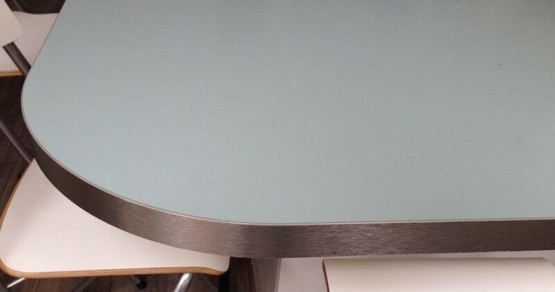 Ikea customised laminate worktop/ breakfast bar duck egg ...
