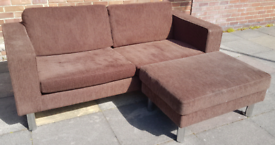 Bo Concept Sofa with footstool free delivery