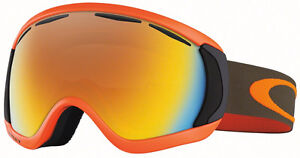 Oakley Canopy Goggles - Herb Orange with Fire Iridium Lens