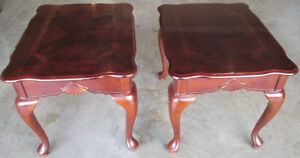 Queen Anne Cherry End Tables (set of 2)
