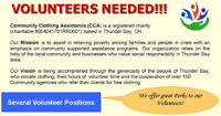Volunteers Needed at Community Clothing Assistance!