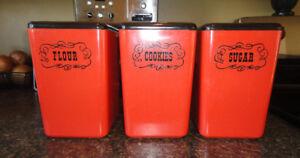 Vintage 50s canister set