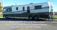 RV Delivery, Class A, Class B, Class C to/from Florida