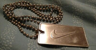 "VINTAGE ""NIKE DOGTAG NECKLACE"" SWOOSH FROM 80'S & 90'S"