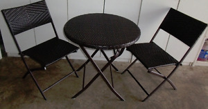 3-Piece Wicker Bistro Set