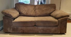 SOLD VGC jumbo cord 2 seater sofa, sofa bed