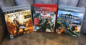 3 PS3 Games - Battleship, Reckoning, Dead Island