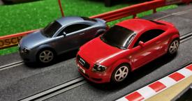 2 x Scalextric Audi TT cars VGC