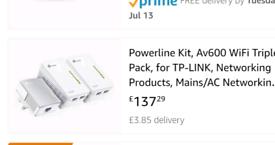 TP AV600 Powerline kit wifi boosters