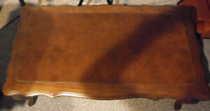 Antique Leather Top Coffee Table Windsor Region Ontario image 1