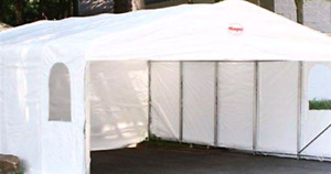 DOUBLE CARPORT WITH DOOR FROM TEMPO