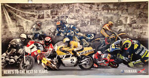 BRAND-NEW Yamaha 50th Anniversary Racing Banner 4 feet x 8 feet