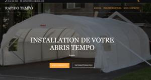 Installation Abris-Tempo Rapido Tempo 7j/7j