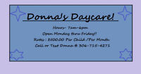 1 spot available at Donna's Daycare!!-Starting June 1st!!