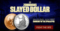 Zombucks Series 8 Slayed Dollar Zombie Silver at RED MOON