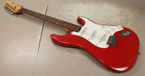 Red Squier Strat Electric Guitar