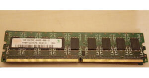 Barette de Memoire Hynix 1GB DDR2 800MHz PC2-6400U-666-