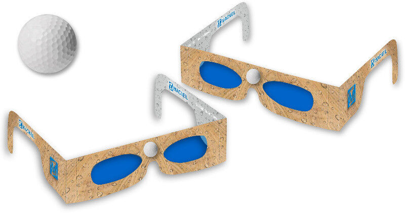 :: Cardboard Golf Ball Finder Glasses :: Brilliant for branding at golf day events