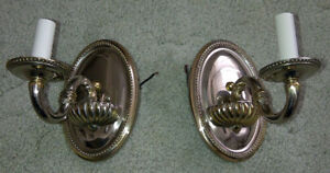 Decorative SILVER PLATED WALL SCONCE pair Brand NEW candle style