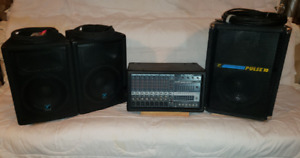 PV Speaker system w/Yorkville speakers 3 50ft Cable PICKUP ONLY