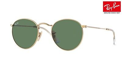 NEW RAY-BAN Sunglasses RB3447 Round Metal 001 Gold Arista 50mm