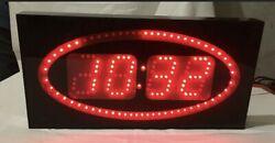 BiG Precision Digital Time Gym Sports LED Wall Clock Second Marker Circles