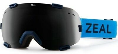 d2e7ebd8de NEW Zeal Voyager Blue Black Grey Mens Spherical Ski Snowboard Goggles  Msrp 130