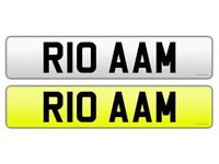 R10 AAM PERSONAL NUMBER PLATE ON RETENTION RIO for sale  Gabalfa, Cardiff