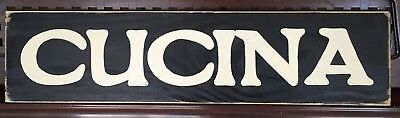 CUCINA Italian Plaque KITCHEN Sign Italy Wall Decor TUSCANY Food Cooking Wood HP