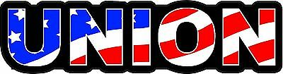3 - Union Us Flag Lunch Box Hard Hat Tool Box Helmet Sticker H156