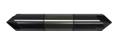 """1/4"""" 4 FLUTE 90 DEGREE CARBIDE CHAMFER MILL - DOUBLE END - TiALN COATED"""