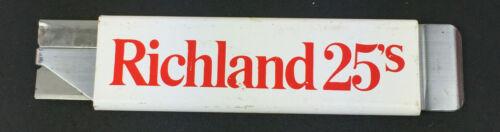 Vtg Richland 25s Cigarettes  Metal retractable Box Cutter Pacific Handy Cutter