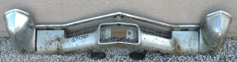X Cadillac New Triple Plated Chrome Front Bumper 1968 68 Oem