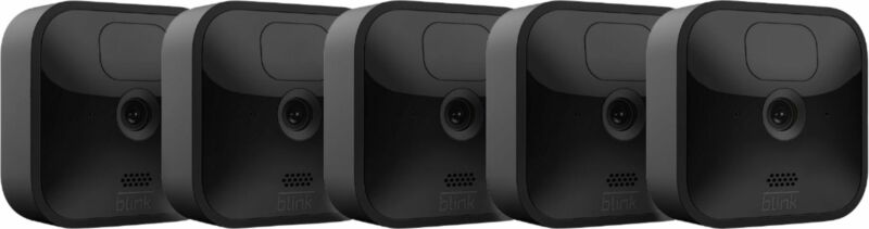 Blink - Outdoor 5 Cam Kitwireless, weather-resistant HD security camera wit...