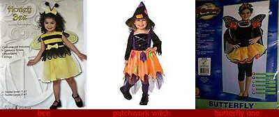 5 Girl Halloween Costumes (Girl Butterfly 5pc Halloween Costume RUBIES free shiping w/ buy it now price)