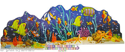OCEAN FRIENDS CENTERPIECE ~ Deep Sea Fish Birthday Party Supplies Decorations - Fishing Party Supplies