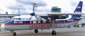Be-32-Cuff-Moscow-Airways-Beriev-Be32-Airplane-Kiln-Wood-Model-Replica-Small-New