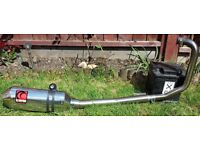 HONDA CBF125 SCORPION FACTORY OVAL STAINLESS STEEL EXHAUST SYSTEM