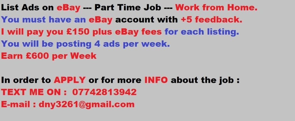 List Ads Online one B a yEarn600 Weeklyin Great Harwood, LancashireGumtree - List Ads Online. Please check the pic. Part Time Serious and long term. Please check the PIC ! Thank You