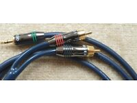 QED Qunex 3.5mm stereo to RCA phono Cable