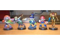 5 Amiibo, all in great condition.