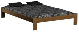 Wooden Pine Wood Bed Frame Small Double Size 140x190 OAK