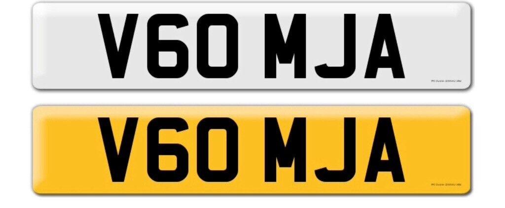V60 MJA private car registration for sale