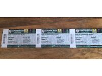 3 TICKETS FOR LONDON IRISH V GLOUCESTER ST PATRICKS DAY PARTY!