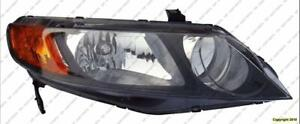 Head Light Passenger Side Sedan Honda Civic 2006-2008