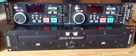 DENON DN 1800F Twin CD Player DJ with Cable, Faulty