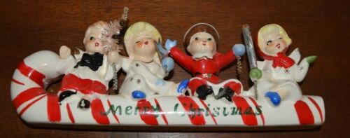 Vintage Christmas Relco Candy Cane Kids 1950s Japan