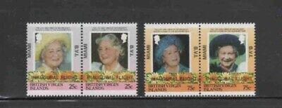 VIRGIN ISLANDS #528-531 1986 QUEEN MOTHER OVERPRINT MINT VF NH O.G