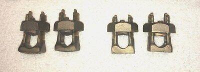 4 Burndy Ks-31 Brass Split Bolt Connectors Tap 10-350 Brand New