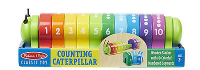 Melissa & Doug Classic Toy Wooden Counting Caterpillar #9274 NEW